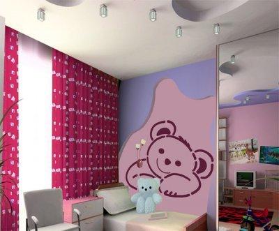 XXL Wandschablone Teddybär