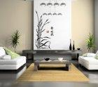 XXL Wandschablone Japanisches Seegras
