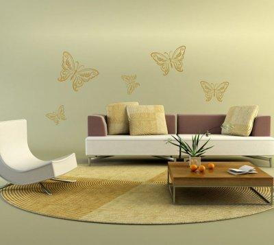 XXL Wandschablone Schmetterlinge