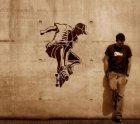 XXL Wandschablone Skateboard
