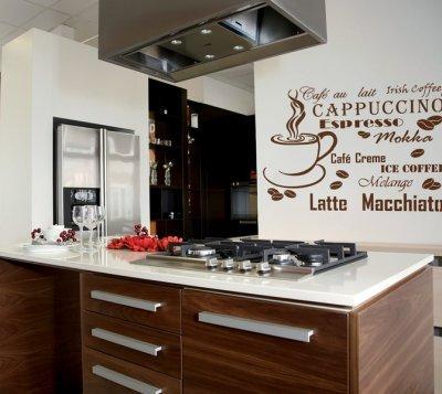 XXL Wandschablone Café ( Kaffee )