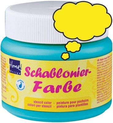 Schablonierfarbe Gelb