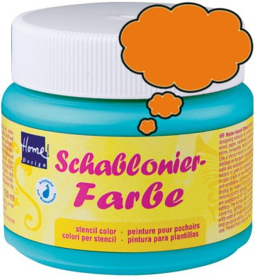 Schablonierfarbe Orange