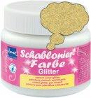 Schablonierfarbe Glitter Gold fein