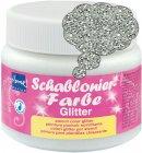 Schablonierfarbe Glitter Silber
