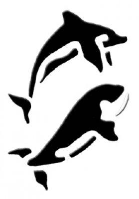 3D Wandschablone Delphine