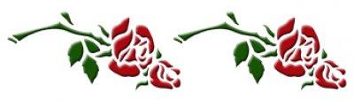 3D Wandschablone Rosen