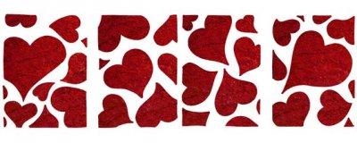 Dekor-Schablone Herzen