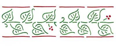 Dekor-Schablone Blätterranke