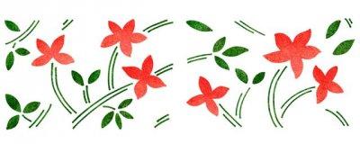 Dekor-Schablone Blätterdekor 1