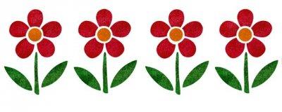 Dekor-Schablone Blumenquartett 2