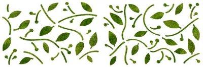 Dekor-Schablone Blätterdekor 2