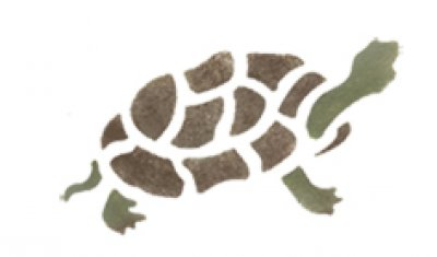 Wandschablone Schildkröte