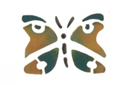 Wandschablone Schmetterling 2