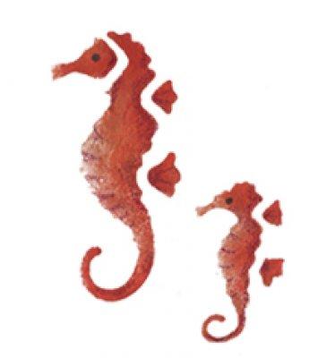 Wandschablone Seepferdchen