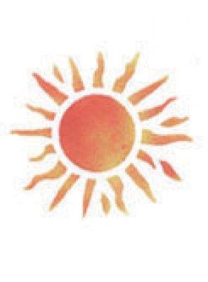 Wandschablone Sonne