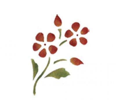 Wandschablone Blumen