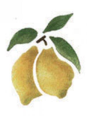 Wandschablone Zitronen