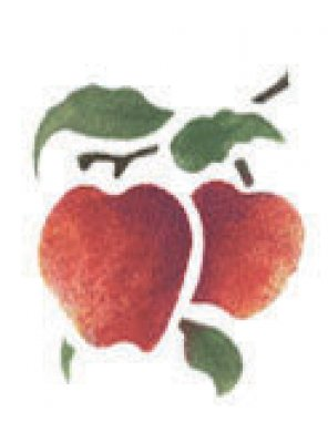 Wandschablone Äpfel