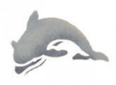 Wandschablone Delphin