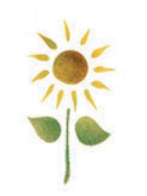Wandschablone Sonnenblume