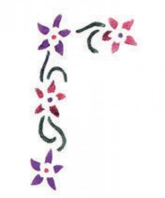Wandschablone Blumenranke