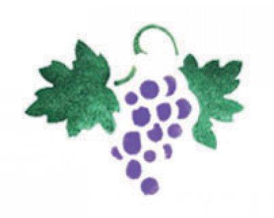 Wandschablone Wein