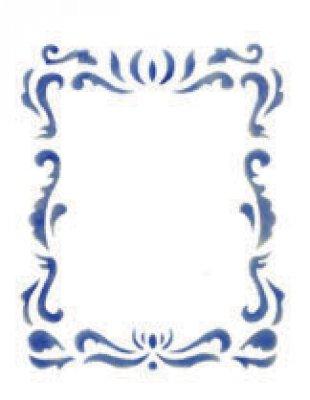 Wandschablone Ornament