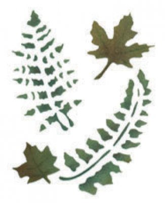 Wandschablone Farnblätter