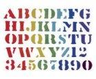 Wandschablone Alphabet und Zahlen