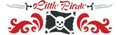 Wandschablone Piraten