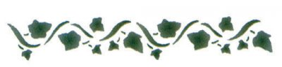 Wandschablone Efeu