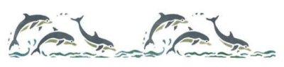Wandschablone Delphine