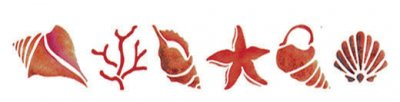 Wandschablone Muscheln
