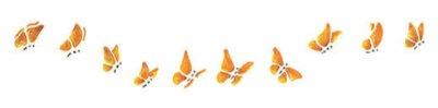 Wandschablone Schmetterlinge