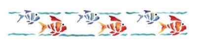 Wandschablone Fische