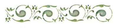 Wandschablone Blätter
