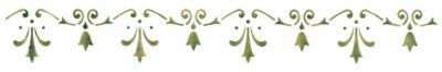 Wandschablone Schmucklilien