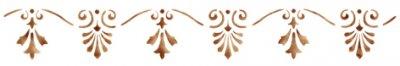 Wandschablone Lilienborte